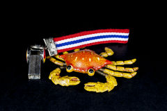 Whistles with Thailand national flag lanyard Royalty Free Stock Photo