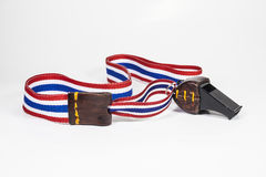 Whistles with Thailand national flag lanyard Royalty Free Stock Photography