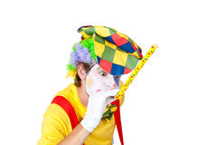 Whistling clown Royalty Free Stock Photography