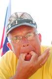 Whistling senior man Royalty Free Stock Photos