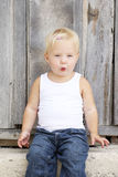 Whistling young girl Royalty Free Stock Photos