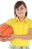 whit девушки баскетбола шарика Стоковое Фото