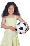 whit девушки шарика Стоковые Фотографии RF