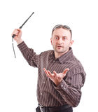 whit дубинки человека Стоковое Изображение RF