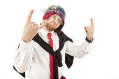 whit связи бизнесмена красный Стоковые Фотографии RF