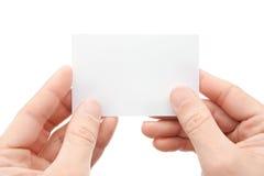 Whit da mão um cartão imagens de stock royalty free