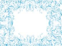whit för vektor för prydnad för bakgrundsjul blom- Royaltyfri Fotografi