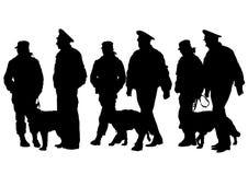whit för hundmanpolis Fotografering för Bildbyråer
