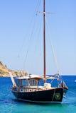 Whit van de boot zeil Royalty-vrije Stock Afbeeldingen