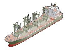 Whit van de Bulk-carrier het Pictogram van Kranen. De Elementen van het ontwerp 41e Royalty-vrije Stock Foto's