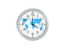 Whit van de klok wereldkaart Stock Afbeeldingen