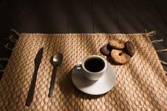 Whit van de ontbijtkoffie koekje Royalty-vrije Stock Fotografie