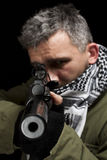 Whit van de terrorist kanon royalty-vrije stock foto