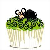Whit van Halloween cupcake muis Royalty-vrije Stock Afbeelding