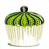 Whit van Halloween cupcake pompoen Royalty-vrije Stock Foto's
