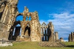 Whitby修道院北约克郡海岸英国 库存图片