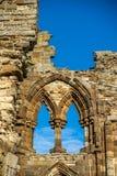 Whitby修道院北约克郡海岸英国 库存照片