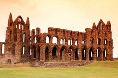 Whitby修道院城堡 免版税库存图片