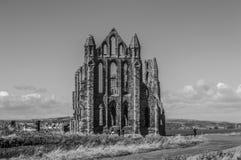 Whitby修道院,北约克郡,英国 免版税库存图片