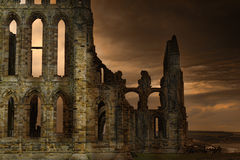Whitby修道院 免版税图库摄影