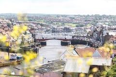Whitby平旋桥  图库摄影