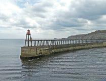 whitby港口的墙壁 免版税库存图片