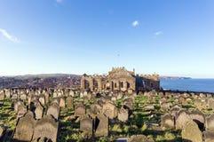 Whitby的坟园 免版税图库摄影