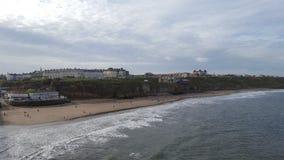 Whitby西部峭壁海滩 免版税图库摄影