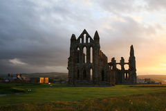 Whitby Abbey. Ruins of abbey in Whitby, Yorkshire, UK Royalty Free Stock Images