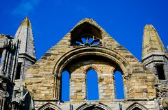 Whitby Abbey Royaltyfri Fotografi