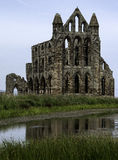 whitby abbey arkivbild