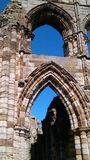 Whitby abbey archway Stock Photos