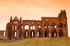 Whitby Abbey castle Stock Image