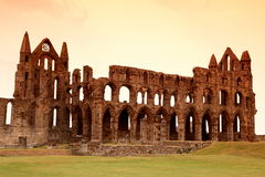 Whitby Abbey castle, ruined Benedictine abbey sited on Whitby`s Royalty Free Stock Image