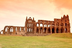 Whitby Abbey castle, ruined Benedictine abbey sited on Whitby`s Royalty Free Stock Photo