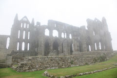 Whitby Abbey castle taken in deep fog Stock Photography