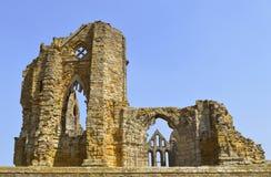 Whitby Abbey en kristenkloster för 7th-århundrade Arkivbilder