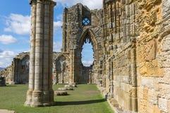 Whitby Abbey forntida kloster i Whitby, England Royaltyfri Bild