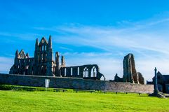 Whitby Abbey i North Yorkshire, UK Royaltyfri Bild