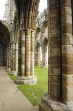 Whitby abbey inside. The ruined Whitby Abbey in North Yorkshire, England stock photos
