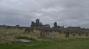 Whitby Abbey from St Marys Churchyard. Looking across St Marys churchyard to Whitby Abbey Stock Photos
