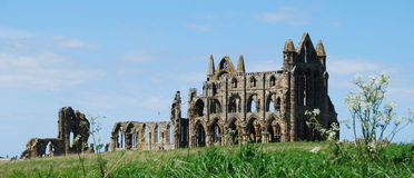 Whitby Abbey North Yorkshire Royaltyfria Bilder