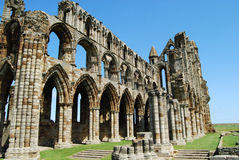 Whitby Abbey North Yorkshire Royaltyfri Bild
