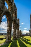 Whitby Abbey North Yorkshire Coast R-U images stock