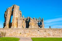 Whitby Abbey in North Yorkshire, Großbritannien Lizenzfreie Stockfotografie