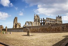 Whitby Abbey in North Yorkshire. Haunting remains of Whitby in North Yorkshire Stock Photography