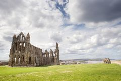 Whitby Abbey in North Yorkshire. Haunting remains of Whitby in North Yorkshire Stock Photo