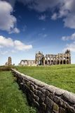 Whitby Abbey in North Yorkshire. Haunting remains of Whitby in North Yorkshire Royalty Free Stock Photos