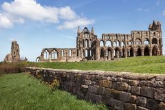 Whitby Abbey in North Yorkshire. Haunting remains of Whitby in North Yorkshire Royalty Free Stock Image