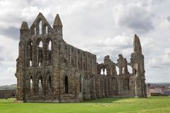 Whitby Abbey in North Yorkshire. Haunting remains of Whitby in North Yorkshire Stock Images